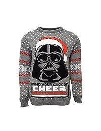 Numskull Official Star Wars Darth Vader Christmas Jumper/Ugly Sweater UK XL/US L Grey