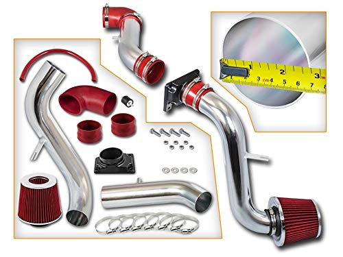 Rtunes Racing Cold Air Intake Kit + Filter Combo RED For 01-05 Chrysler Sebring 3.0L V6 / 01-05 Dodge Stratus Coupe 2.4&3.0L / 00-05 Mitsubishi Eclipse 2.4&3.0L / 99-03 Mitsubishi Galant 2.4&3.0L ()