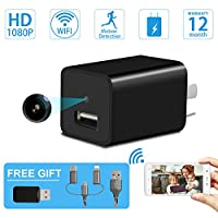 Mini Spy Camera-USB Charger Hidden Camera-SILLEYE Wireless WiFi 1080P Indoor Home Wall Charger Camera/Nanny Cam with Motion Detection/USB Port