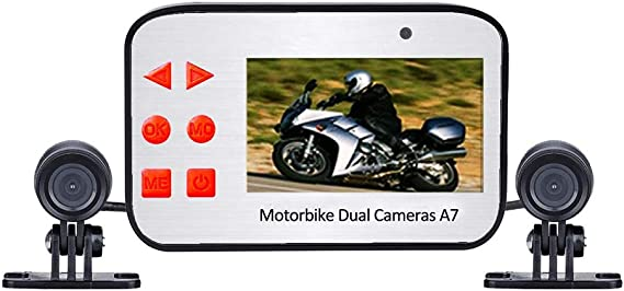 Dash Cameras 3 1080P HD Motorcycle Action Dual Camera Video Recorder 125/° wide-angle Lens Night Vision Front and Rear Camera Waterproof