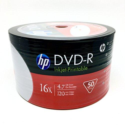 HP DVD-R16x 4.7GB White Inkjet Hub Printable 50 pieces