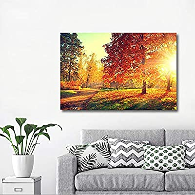 Dazzling Expert Craftsmanship, That's 100% USA Made, Autumn Scene Fall Wall Decor