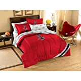NCAA Applique Bedding Comforter Set with Sheets, North Carolina State