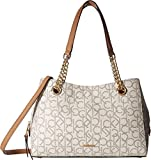 Calvin Klein Women's Monogram Satchel Almond/Khaki One Size