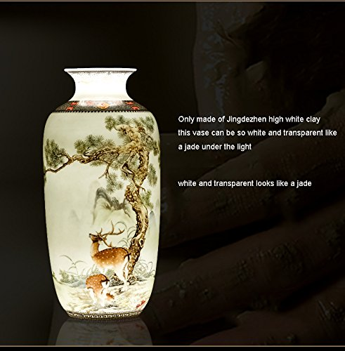 Ceramic Vase Vintage Style Animal Vase Fine Smooth Surface Home Decoration Furnishing Articles by In In (Image #6)