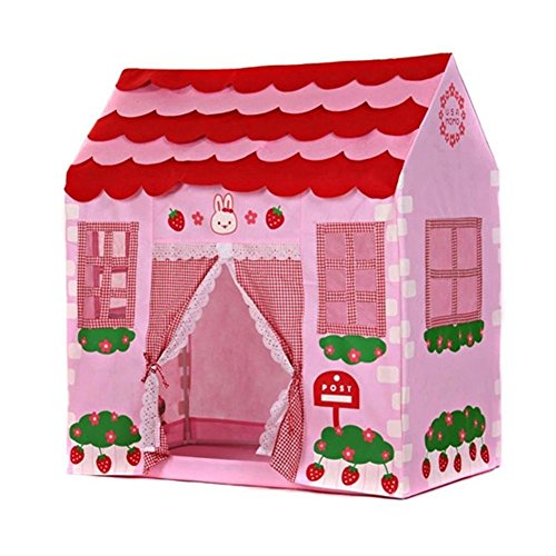 Play Tent - SODIAL(R) Playhouse Girl City House Kids Secret Garden Pink Play Tent Great - Cottage Playhouse City House Girl