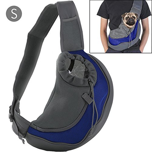 Pet Carrier Sling,Breathable Mesh Travel Single Shoulder Bag for Small Dogs Cat under 6.6LBS by BreaDeep