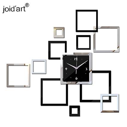 ptk12 Wall Clocks - New 3D ayclic Mirror Clock Watch reloj de pared horloge Large Decorative