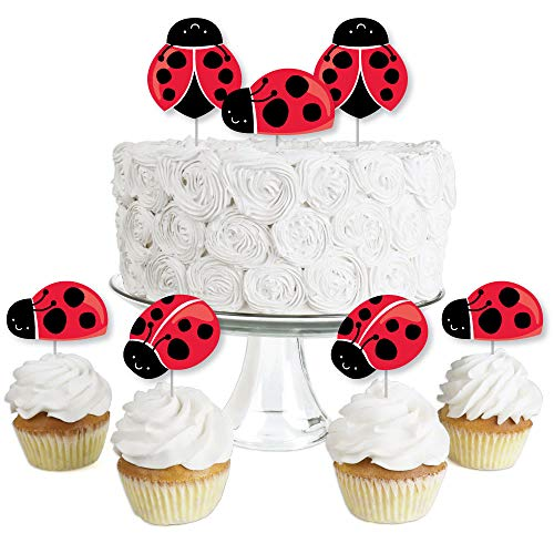 Happy Little Ladybug - Dessert Cupcake Toppers -