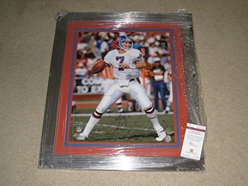 John Elway #7 Denver Broncos Autographed Framed and Matted 16x20 Photo - JSA COA