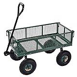 "Sandusky Lee CW3418 Muscle Carts Steel Utility Garden Wagon, 400 lb. Load Capacity, 21-3/4 Height x 34"" Length x 18"" Width"