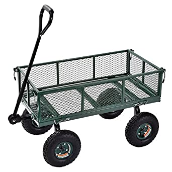 edsal Sandusky cw3418 carros de muscular utilidad de acero jardín Wagon, 181 kg capacidad de carga, 552 mm Altura x 864 mm longitud x 457 mm ancho, verde: Amazon.es: Amazon.es