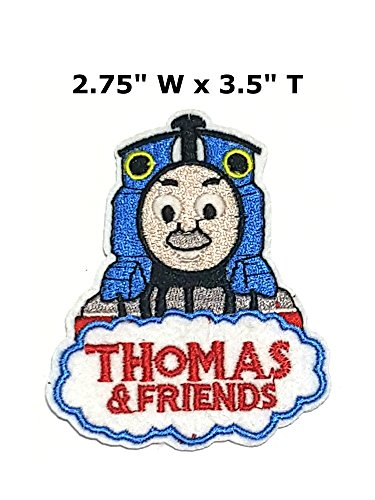 Thomas the Train Cartoon Embroidered Sew or Iron-on Patch Badge DIY Application (Thomas The Train Diy Costume)