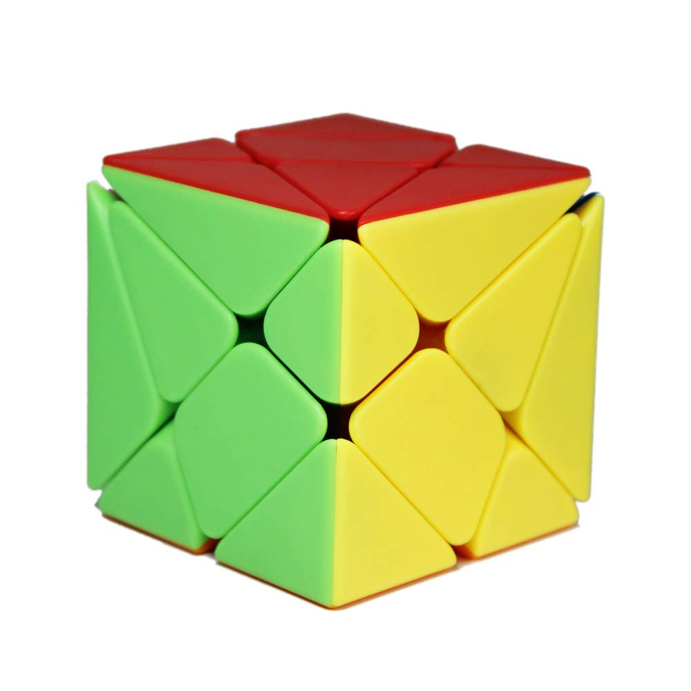 Include 3X3 Axis Cube, Windmill Cube 2x3 Shape Mod, Speed Fisher Cube 3x3x3 Shape Twisty Puzzle OJIN MoYu MOFANGJIAOSHI CUBING CLASSROOM MFJS Specific Speed Cube Puzzle Sets-Pack of 3