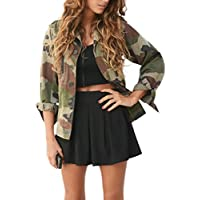 Jacket,FUNIC Women Jacket Coat Camouflage Autumn Winter Street Jacket Women Casual Jackets (S, Camouflage)