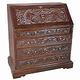 Best Design Toscano Writing Desks - Design Toscano AF2137 Carved Unicorn Drop-Front Secretary Desk Review
