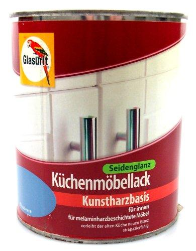 Glasurit Küchenmöbellack seidenglanz, 0,75 Liter in Blaubeere