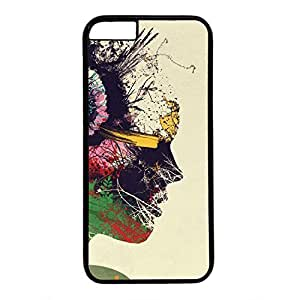 Hard Back Cover Case for iphone 6,Cool Fashion Black PC Shell Skin for iphone 6 with Artist Portrait