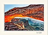 16 x 20 mat including a photograph of Mesa Arch at sunrise glowing red at Canyonlands National Park, Utah. A Southwest sandstone rock landscape for your art needs.for your art needs.