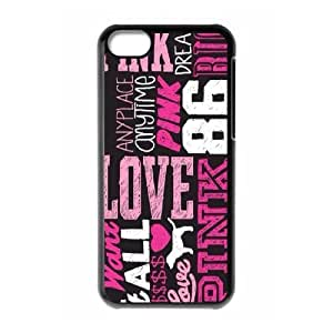 For Iphone 5c Love Pink Pattern Protective Back Case-Style-7