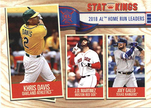 2019 Topps Big League #345 Khris Davis/J.D. Martinez/Joey Gallo Athletics/Red Sox/Rangers Baseball - Rangers Red Sox