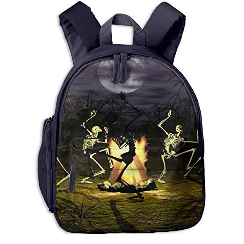 bevoicep Image-50787070-halloween-skeleton-wallpaper-2880x1800 Children School Bag Book Backpack Outdoor Travel Pocket Double Zipper]()