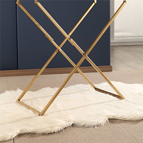 Abbyson Bella Iron Tray Table in White by Abbyson Living (Image #4)