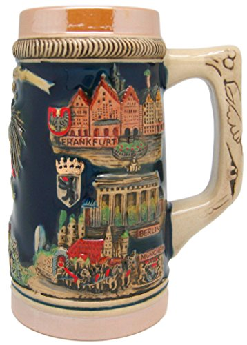 German Cities Collectible Engraved Beer Stein by Essence of Europe Gifts E.H.G