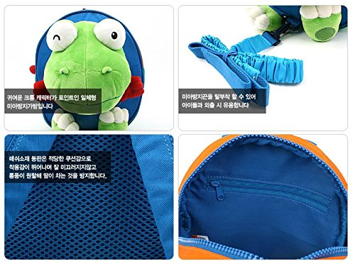 Crong Safety Harness Backpack Toddler Kids Plush Backpack 3 to 5 years PR00193 Blue