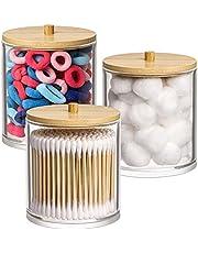 Cotton Swab Holder, Qtip Jar, Cotton Pad/Ball Dispenser Bathroom Containers