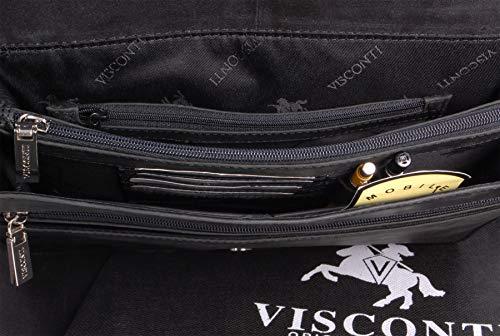 Besace Noir Sac cuir Visconti 16025 gibecière en signé O6CwzxCndq