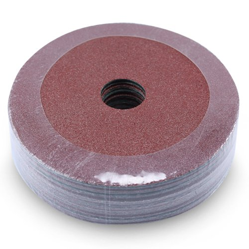 Black Hawk Aluminum Oxide Resin Fiber Discs, 120 Grit, 5-Inch Diameter x 7/8-Inch Arbor Hole, Pack of 25