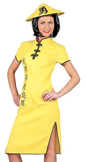 Disfraz oriental amarillo mujer - M: Amazon.es: Juguetes y juegos