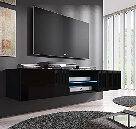 Muebles Bonitos TV Unit Tibi Model 160 cm in White and black