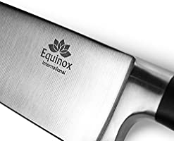 Equinox Professional Chefs Knife - 8 inch Full Tang Blade - 100% German Steel with Protective Bolster