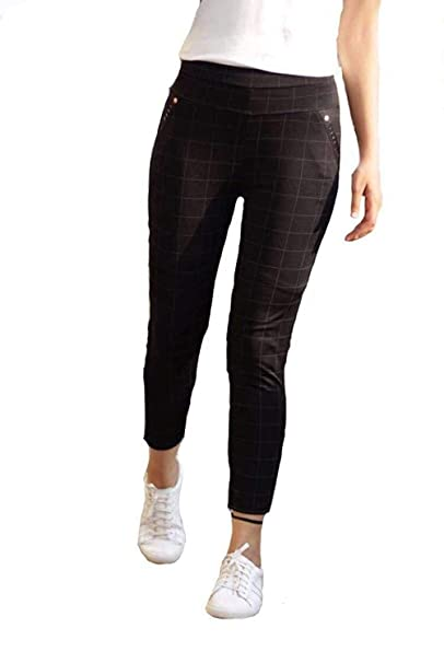 f195bc9cdc9 ICW Women s Cotton High Waisted Checkered Jegging (scarf00-17 ...