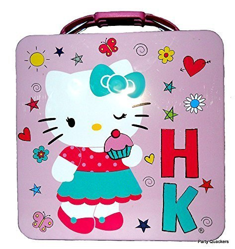 Hello Kitty Tin Box Carry All Metal Lunchbox Favor Container