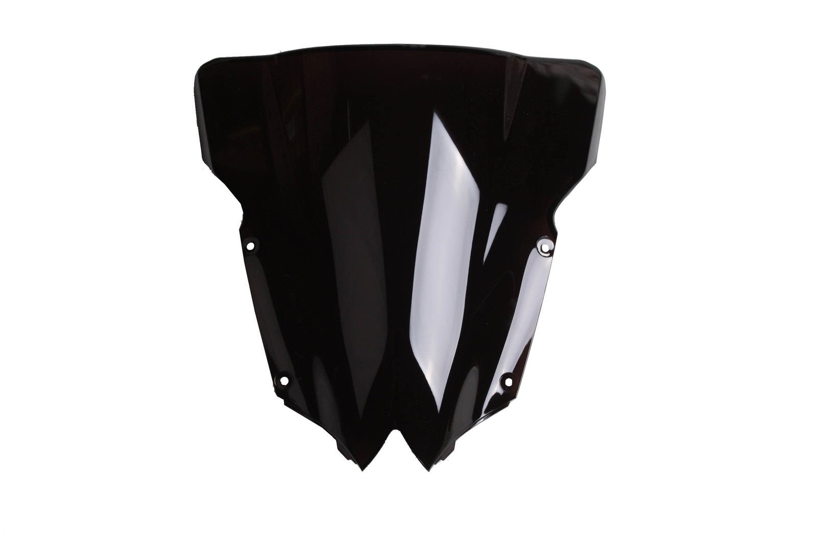 XFMT PMMA Black Double Bubble Windshield Screen For Yamaha YZF R6 YZF-R6 2008-2016