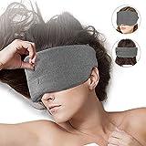 Light Blocking Cotton Sleep Mask - New Design 100% Blackout Soft Sleeping Eye Mask Breathable Comfortable Night Blindfold Adjustable Eyeshade for Women Men Travel Night
