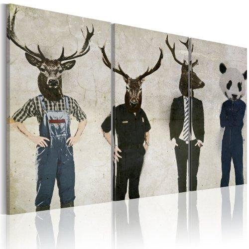 Bilder 120x80 cm - XXL Format - Fertig Aufgespannt - TOP - Vlies Leinwand - 3 Teilig - Wand Bild - Kunstdruck - Wandbild - Abstrakt 020115-1 120x80 cm