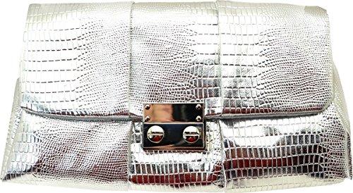 Style&co. Noelle Exotic Shoulder Bag Silver