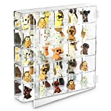 Ikee Design Mountable 25 Compartments Display Case Cabinet Stand with Mirrored Back - Display Shelves for Collectibles