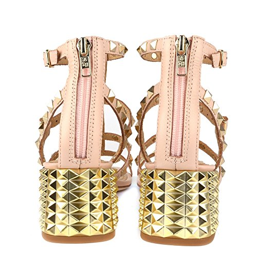 Studded Powder Heeled Rolls Powder Ash Footwear Sandal Btq7wnnZg