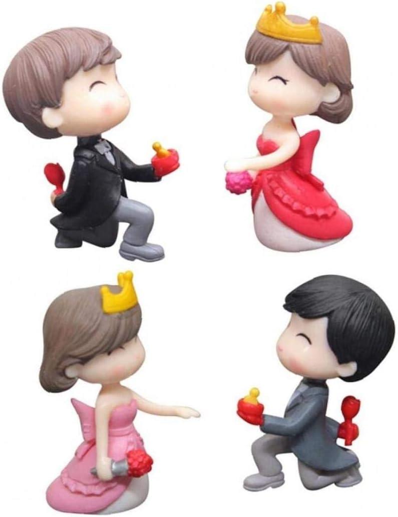 1 par del Sweety de los Amantes de los Pares Figuras Miniatura Craft Hada Regalo Enano de jardín Musgo terrario Ornamento de la Escena de Boda: Amazon.es: Hogar