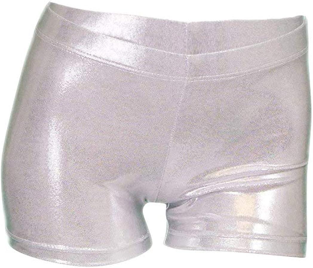 Destira Girl's Mystique Gymnastics Sport Short - Silver