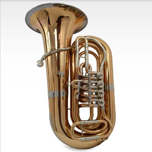 Schiller American Heritage BBb Studio 4-Valve Rotary Tuba - Brass & Cupronickel Bell Ring by Schiller