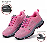 GUDUN Women Breathable Steel Toe Shoes for Women Steel toe Cap Shoes (9-15 days to delivery) (37, GDW-3)