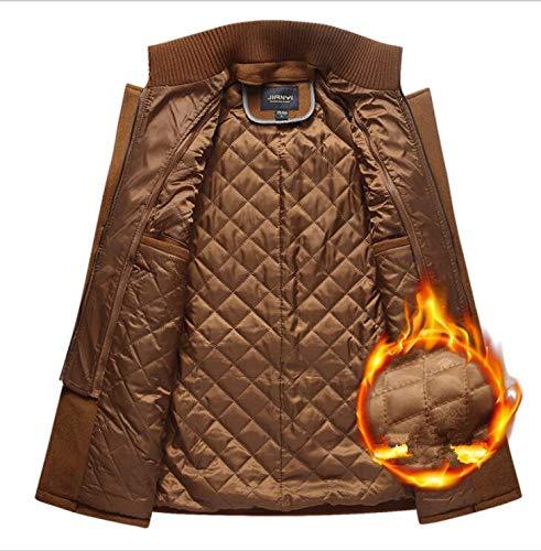 Épais En À Section Gris Longue De Col Des Manteau Et Laine Double Style Punk Hommes D'automne Coton D'affaires D'hiver qgan7wOax
