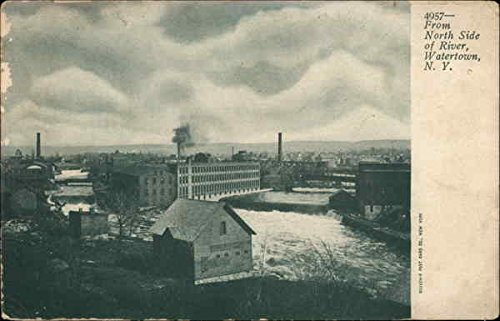 View From North Side of River Watertown, New York Original Vintage - North River Side