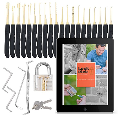 Deluxe Transparent Lock24PCS with ebook and Tools – Perfect practice lock set